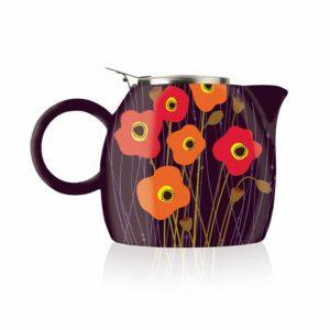 Ceainic ceramic Pugg Poppy Fields pentru infuzie de ceai
