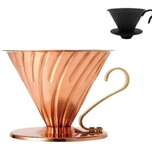 HARIO Coffee Dripper Metalic V60 TIP-02 Black negru sau cupru