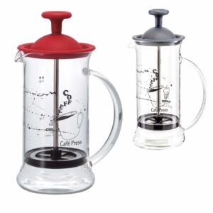 HARIO Coffee Tea Press Slim Black or Red 240ml