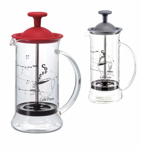 HARIO Coffee Tea Press Slim Black or Red 240ml