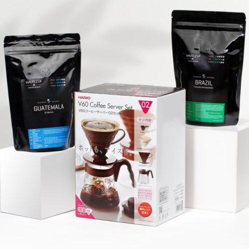Hario V60 Kit Cafea Guatemala si Brazilia